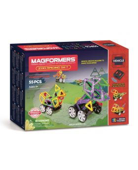 Magformers Zoo Racing Set, 55dlg.